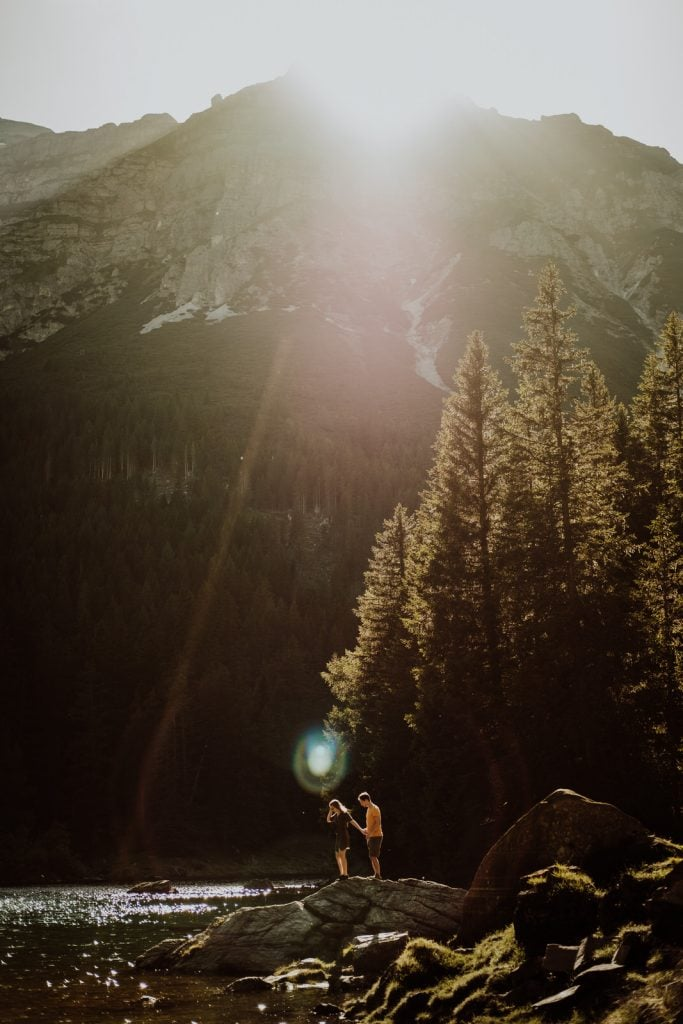 Austrian Alps Engagement Adventure Session by Wild Connections Photography