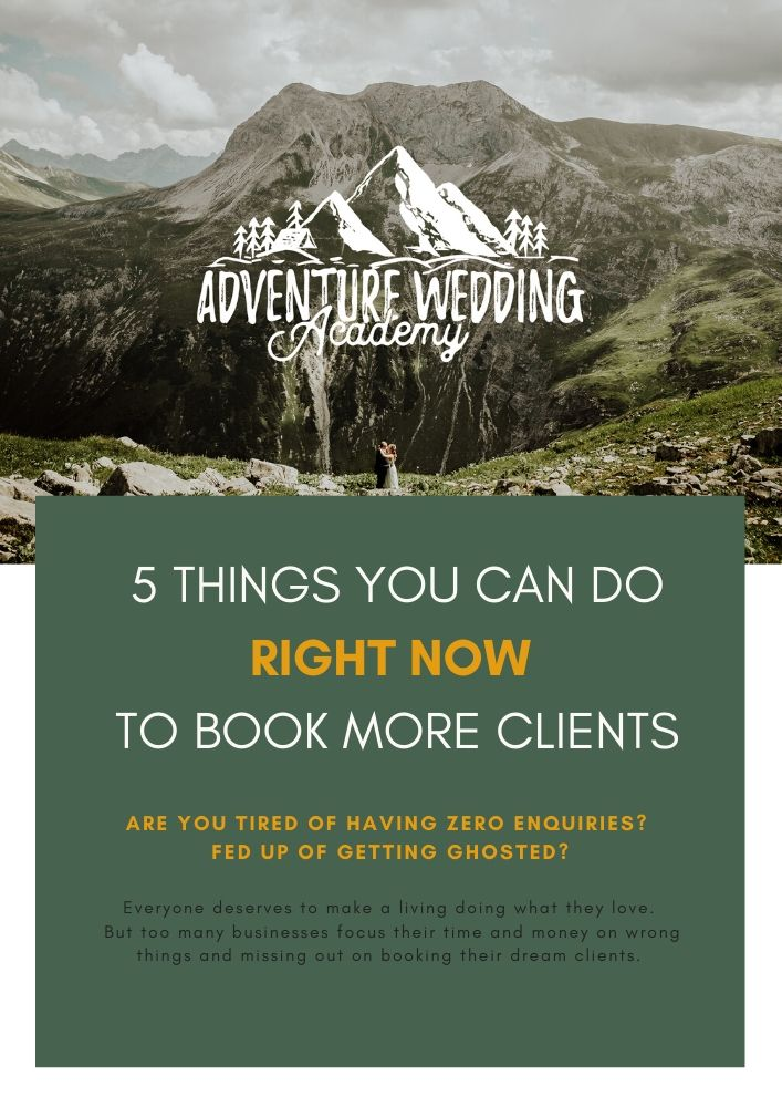 5 things you can do right now to book more clients - free guide